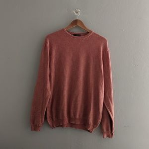 Ermenegildo Zegna Striped Sweater Red Cotton